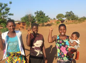Some of the young women and girls benefitting from the project in Ntchisi
