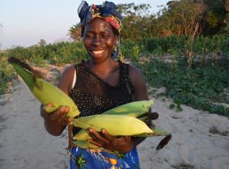 Walipa Phiri, a smallholder farmer who has benefiited from the KULIMA-BETTER project being implemented by ActionAid Malawi in Nkhatabay District.
