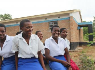 some of the girls benefitting from ActionAid Malawi interventions