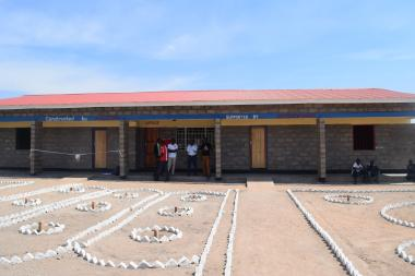 The two class-room school block that was handed over to  Mchinji District Council